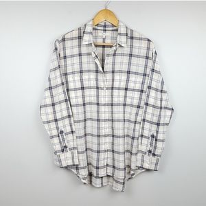 Madewell | Plaid Button Down Long Sleeve Shirt